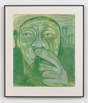 "A Moment of General Anesthesia, 2018, Oil on gessoed paper, 57.5 x 50.25 x 2"" , Nicole Eisenman, Susanne Vielmetter, Photo credit: Robert Wedemeyer."