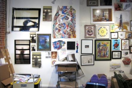 Kristine Schomaker studio visit. Photo Credit: Gary Brewer