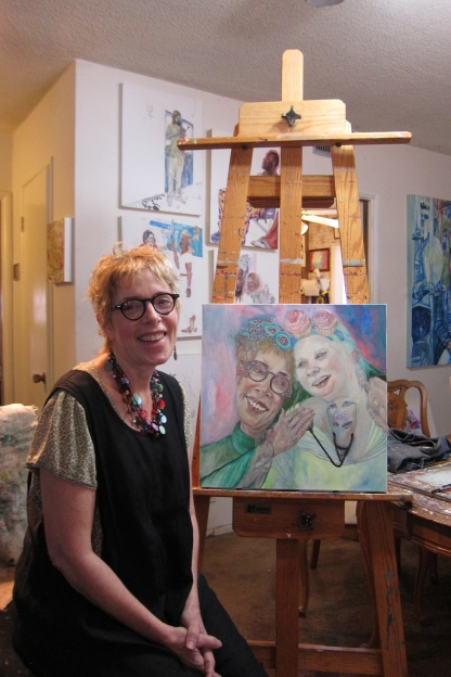 Jodi Bonassi, Studio Visit. Photo Credit: Gary Brewer.