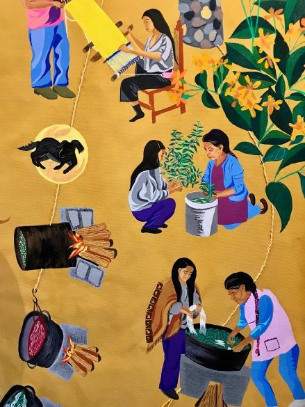 iris yirei hu (detail of large painting) at WCCW. Photo Credit: Lara Salmon.