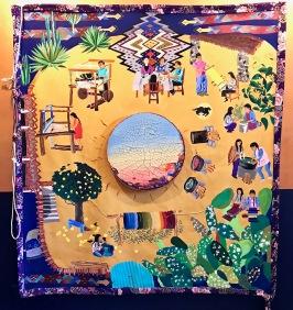 iris yirei hu (large painting) at WCCW. Photo Credit: Lara Salmon.
