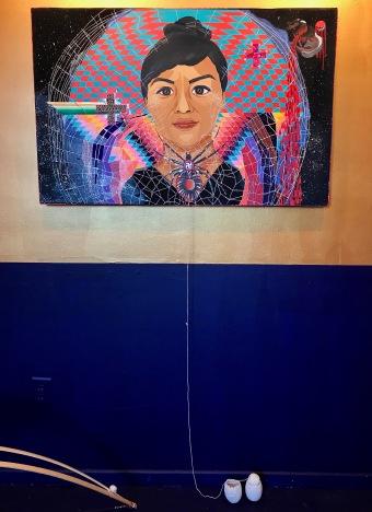 iris yirei hu (painting of Melissa Cody) at WCCW. Photo Credit: Lara Salmon.