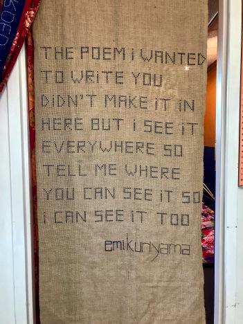 iris yirei hu (poem written by Emi Kuriyama) at WCCW. Photo Credit: Lara Salmon.