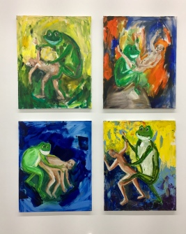 Keith Boadwee and Club Paint, Active Amphibian I-IV, Nicodim Gallery, Photo credit: Shana Nys Dambrot.