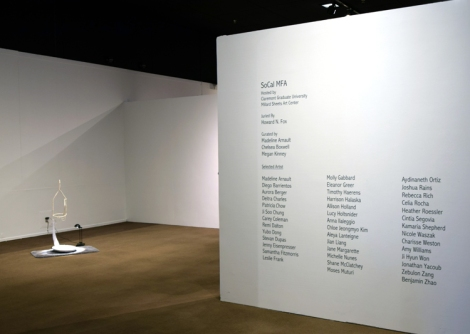 SoCal MFA 2018, Millard Sheets Art Center. Photo Credit: Kristine Schomaker.