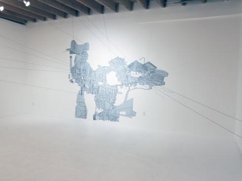 Kim Schoenstadt, Context v. Perspective at Chimento. Photo Credit: Kristine Schomaker.