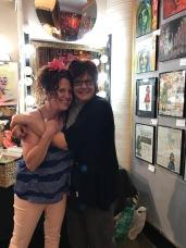 Kristine Augustyn and Kate Carvellas. Brewery Artwalk. Spring 2018. Photo Credit Genie Davis