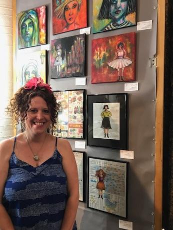 Kristine Augustyn. Brewery Artwalk. Spring 2018. Photo Credit Genie Davis