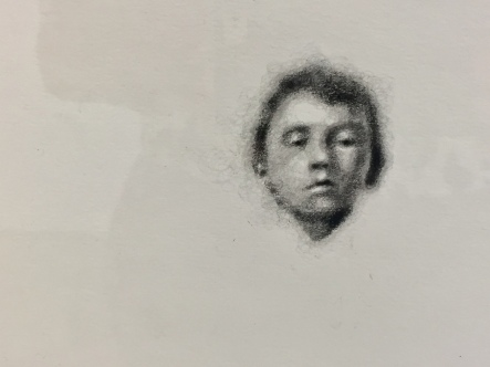 Robert Russell, Baby Hitler, graphite on paper, 11.5x11.5 inches, 2017, Anat Ebgi. Photo Credit: Shana Nys Dambrot.