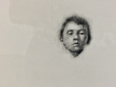 Robert Russell, Baby Hitler, graphite on paper, 11.5x11.5 inches, 2017, Anat Ebgi. Photo Credit: Shana Nys Dambrot.