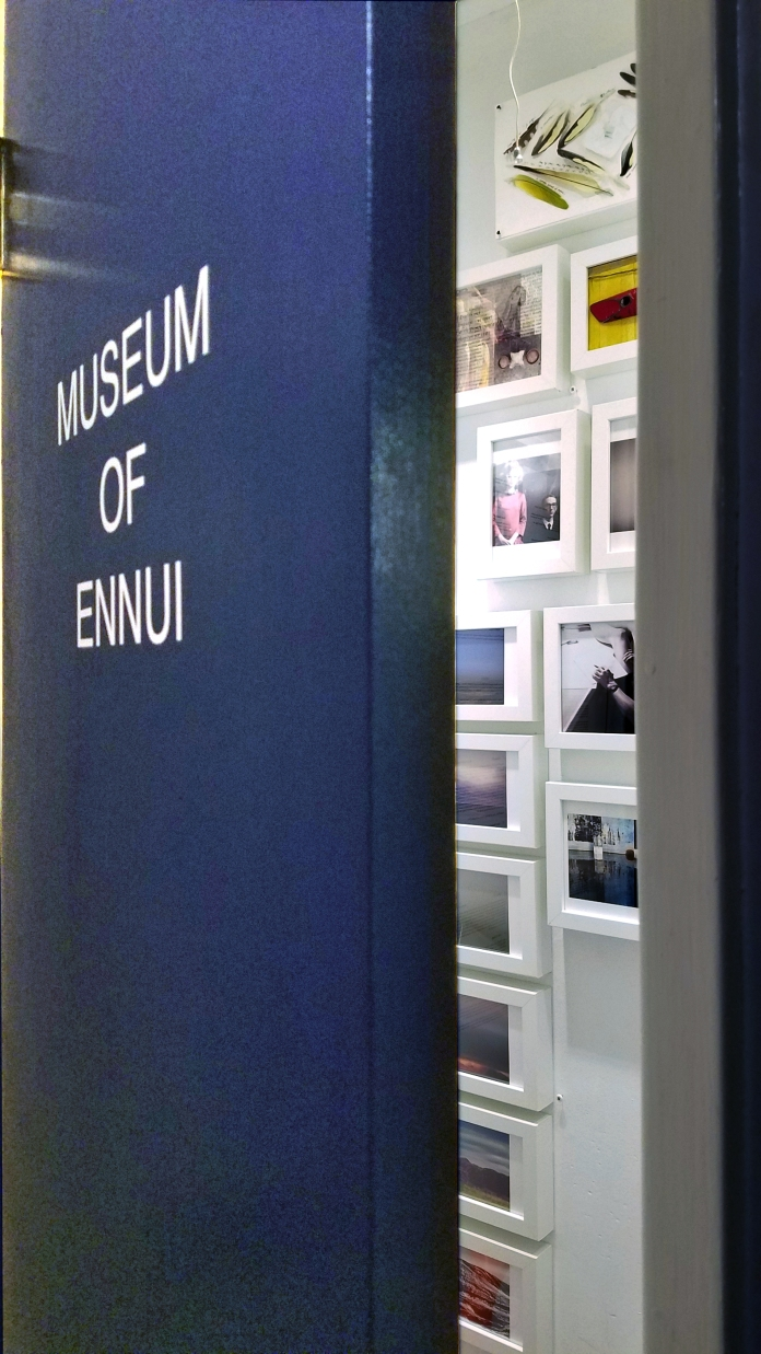 Martin Cox's Museum of Ennui at The Closet in Shoebox Projects. Photo credit: Kristine Schomaker.