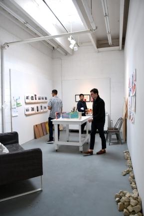 Ashley Lothyan at CGU Open Studios. Photo credit: Kristine Schomaker.