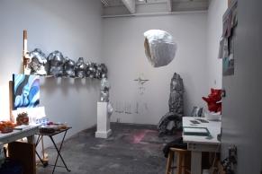 Mengyuan Li at CGU Open Studios. Photo credit: Kristine Schomaker.