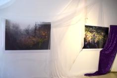 Aurora Berger and Chelsea Boxwell at CGU Open Studios. Photo credit: Kristine Schomaker.