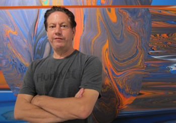 Andy Moses, studio visit. Photo credit: Gary Brewer.