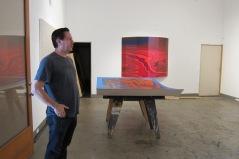 Andy Moses, studio visit. Photo credit: Gary Brewer.