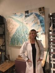 Britney Penouilh, studio visit. Photo credit: Genie Davis.