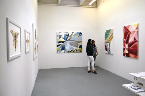 Laden Sedighi at CGU Open Studios. Photo credit: Kristine Schomaker.