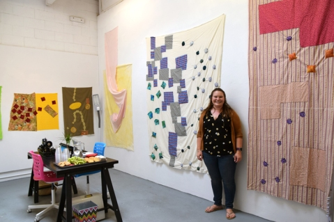 Madeline Arnault at CGU Open Studios. Photo credit: Kristine Schomaker.