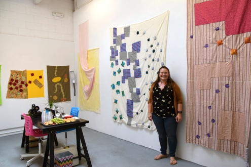 Madeline Arnault at CGU Open Studios. Photo credit: Kristine Schomaker.