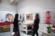 Manny Llanura at CGU Open Studios. Photo credit: Kristine Schomaker.
