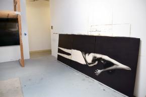 Neila Durrer at CGU Open Studios. Photo credit: Kristine Schomaker.
