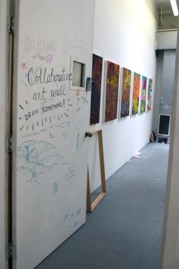Patricia Chow at CGU Open Studios. Photo credit: Kristine Schomaker.
