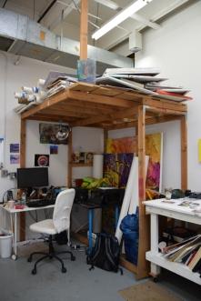 Todd McCaffrey at CGU Open Studios. Photo credit: Kristine Schomaker.
