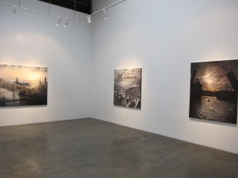 Lawrence Gipe at Lora Schlesinger Gallery. Photo credit: Gary Brewer.