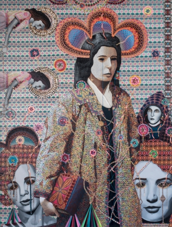 Asad Faulwell Les Femmes d'Alger # I at DENK Gallery. Photo courtesy of the gallery