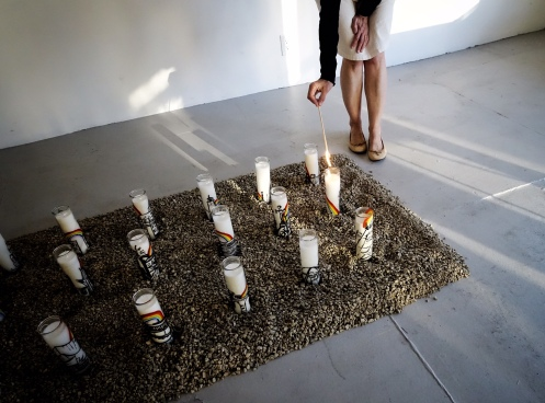 Dani Dodge in The Mexicali Biennial at Los Angeles Contemporary Exhibitions (LACE). Photo courtesy of the artist.