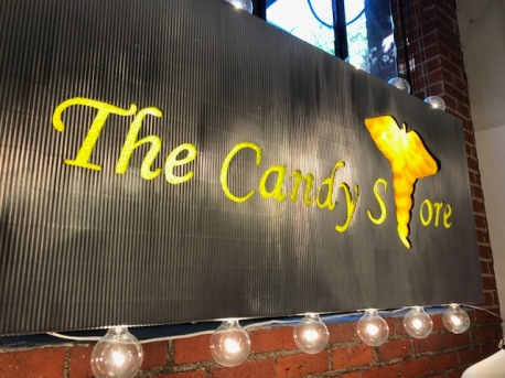 The Candy Store by Debby and Larry Kline at Shoebox Projects. Photo credit: Genie Davis.