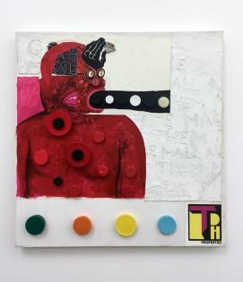 Trenton Doyle Hancock, 'Becoming the Toymaker, Phase 33 of 41'in Texas at Philip Martin Gallery. Photo credit: Lorraine Heitzman
