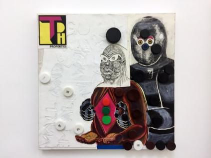 Trenton Doyle Hancock, 'Becoming the Toymaker, Phase 27 of 41' in Texas at Philip Martin Gallery. Photo credit: Lorraine Heitzman