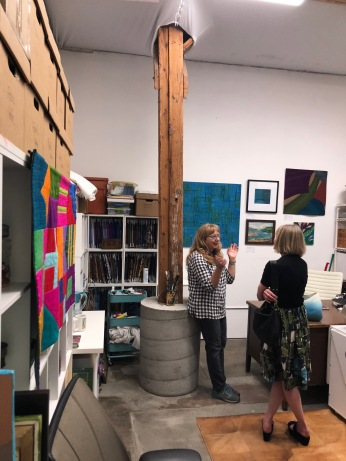 Connie Rohman at Keystone Art Space Open Studios, June 2018.
