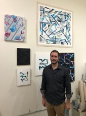 Nate Zoba in Keystone Art Space Open Studios, June 2018.