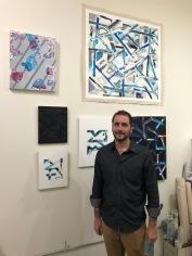 Nate Zoba in Keystone Art Space Open Studios, June 2018.