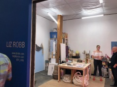 Liz Robb in Keystone Art Space Open Studios June 2018