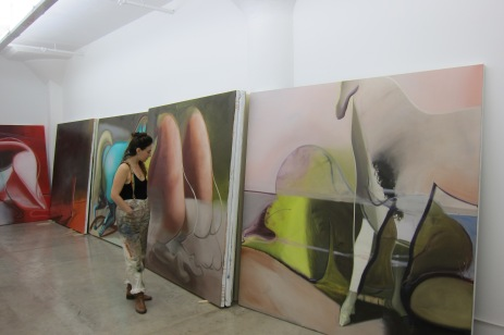 Katherina Olschbaur, studio visit. Photo credit: Gary Brewer.