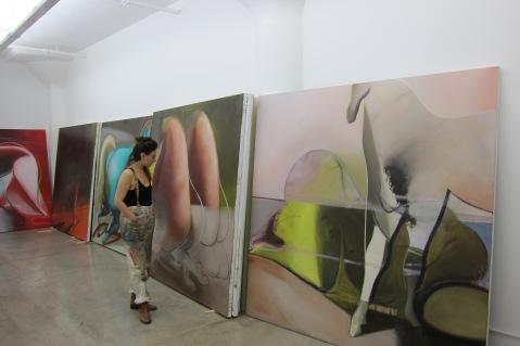 Katherina Olschbaur, studio visit. Photo credit: Gary Brewer.