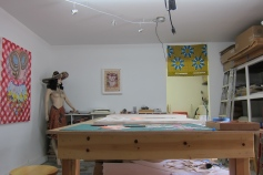 Leigh Salgado, Studio Visit. Photo credit: Gary Brewer.
