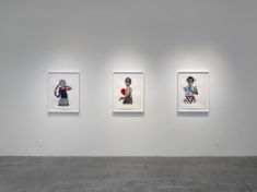 Deborah Roberts, Fragile but Fixable, Installation, at Luis De Jesus Los Angeles. Photo courtesy of the gallery.