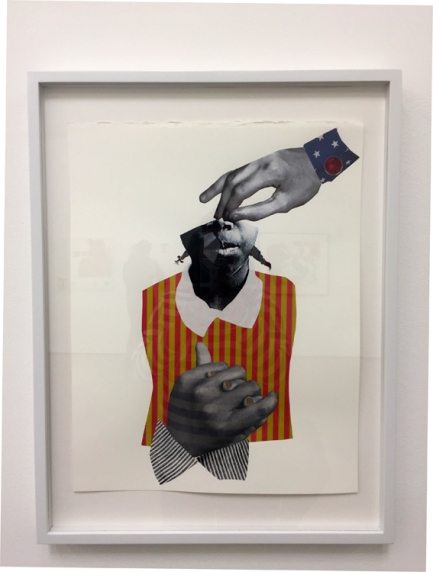 Deborah Roberts, 'The Critique' in Texas at Philip Martin Gallery. Photo credit: Lorraine Heitzman.