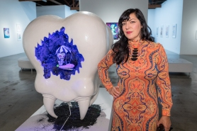 Camille Rose Garcia at Corey Helford Gallery. Photo credit: Birdman.