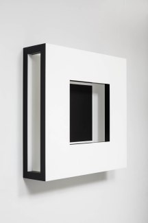 Adrian Piper. Recessed Square. 1967. Masonite on wood frame (refabricated 2017). 36 × 36 × 9 in. (91.4 × 91.4 × 22.9 cm). Collection Adrian Piper Research Archive Foundation Berlin. © Adrian Piper Research Archive Foundation Berlin. Photography by Timo Ohler