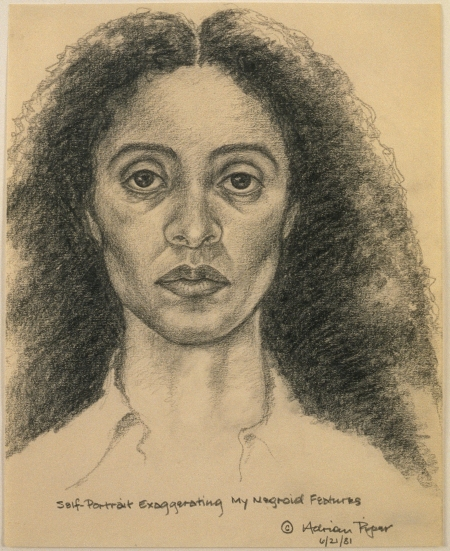 Adrian Piper. Self-Portrait Exaggerating My Negroid Features. 1981. Pencil on paper. 10 × 8 in. (25.4 × 20.3 cm). The Eileen Harris Norton Collection © Adrian Piper Research Archive Foundation Berlin