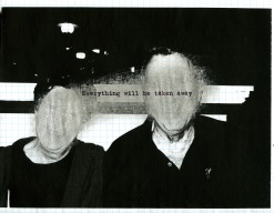 Adrian Piper. Everything #2.8. 2003. Photocopied photograph on graph paper, sanded with sandpaper, overprinted with inkjet text, 8.5″ x 11″ (21.6 x 27.9 cm). Private Collection. © Adrian Piper Research Archive Foundation Berlin