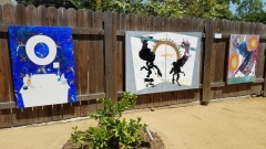 'On the Fence' at Artcrib 18 at Bonehouse Bridge. Photo credit: Kristine Schomaker.