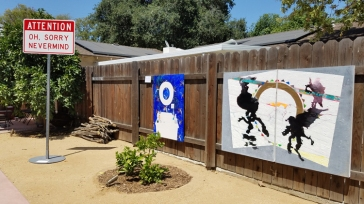 'On the Fence' Artcrib 18 at Bonehouse Bridge. Photo credit: Kristine Schomaker.