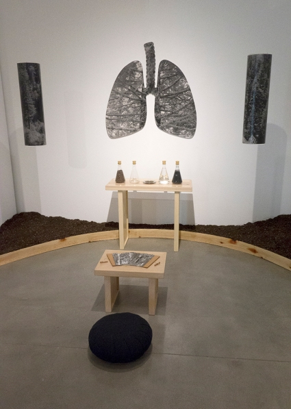 Sacred Breath, Sant Khalsa, The Forest for the Trees at The Museum of Art & History, Lancaster, CA. Photos courtesy of Sant Khalsa.